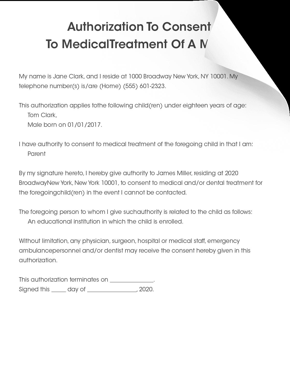 Child Medical Consent