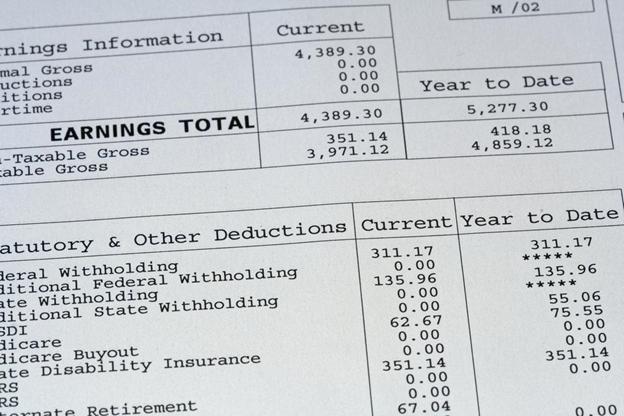 Paystub Earnings Total